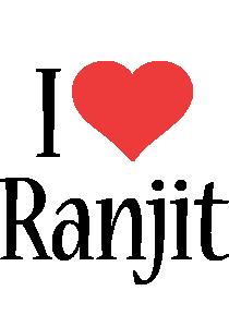 Ranjit i-love logo