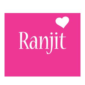 Ranjit love-heart logo