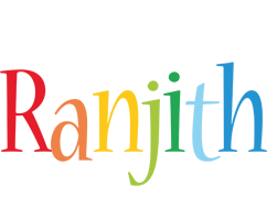 Ranjith birthday logo