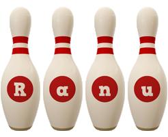 Ranu bowling-pin logo
