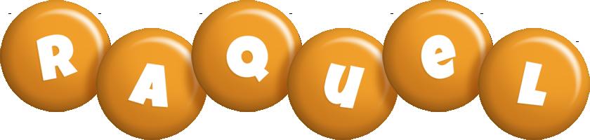Raquel candy-orange logo