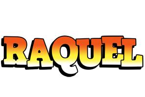 Raquel sunset logo