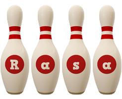 Rasa bowling-pin logo