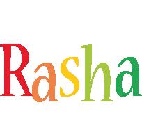 Rasha birthday logo