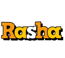Rasha cartoon logo