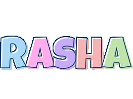 Rasha pastel logo