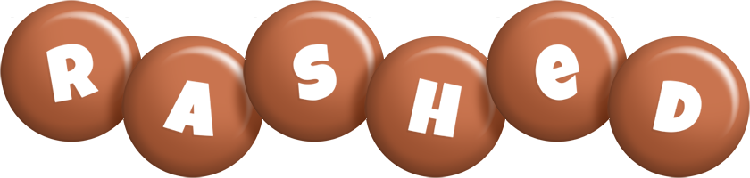 Rashed candy-brown logo