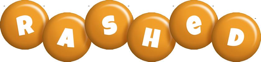 Rashed candy-orange logo