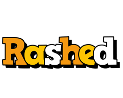 Rashed cartoon logo