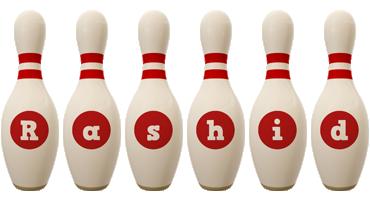 Rashid bowling-pin logo