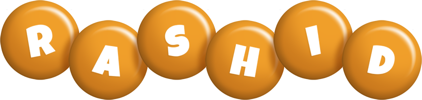 Rashid candy-orange logo