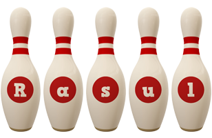 Rasul bowling-pin logo