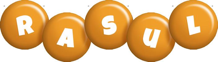 Rasul candy-orange logo