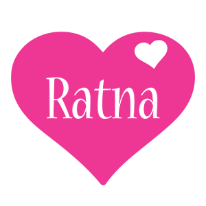 Ratna love-heart logo