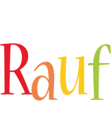 Rauf birthday logo