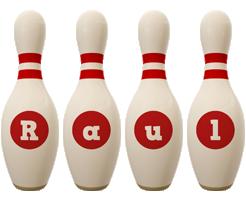 Raul bowling-pin logo