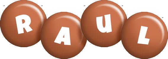 Raul candy-brown logo