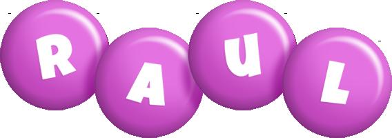 Raul candy-purple logo