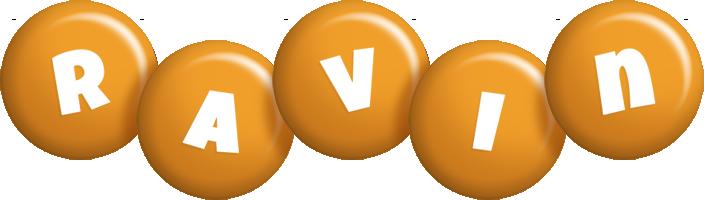 Ravin candy-orange logo