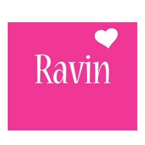 Ravin love-heart logo