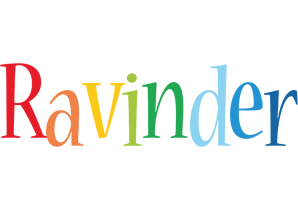 Ravinder birthday logo