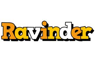 Ravinder cartoon logo
