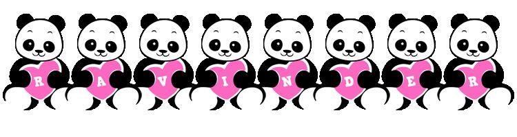 Ravinder love-panda logo