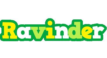 Ravinder soccer logo