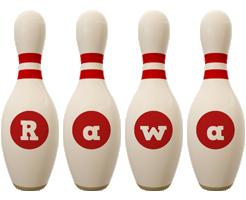 Rawa bowling-pin logo