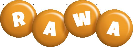 Rawa candy-orange logo