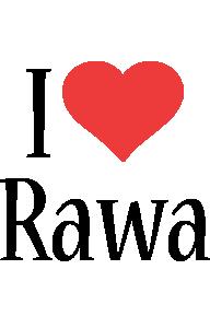 Rawa i-love logo