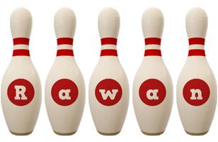 Rawan bowling-pin logo