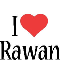 Rawan i-love logo