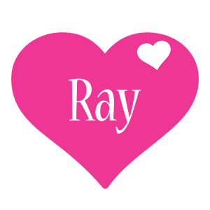 Ray love-heart logo
