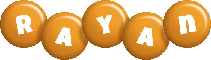 Rayan candy-orange logo