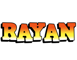 Rayan sunset logo