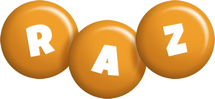 Raz candy-orange logo