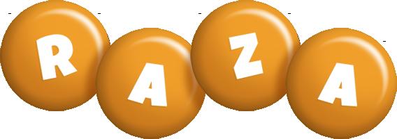 Raza candy-orange logo
