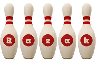 Razak bowling-pin logo
