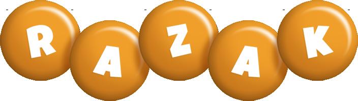 Razak candy-orange logo