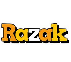 Razak cartoon logo