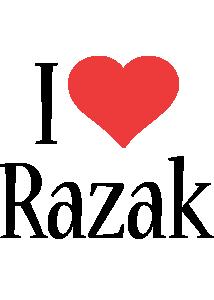 Razak i-love logo