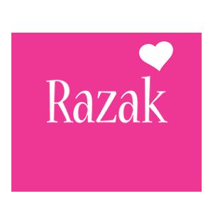 Razak love-heart logo