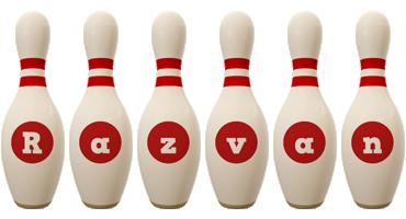 Razvan bowling-pin logo