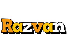 Razvan cartoon logo