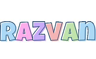 Razvan pastel logo
