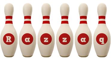 Razzaq bowling-pin logo
