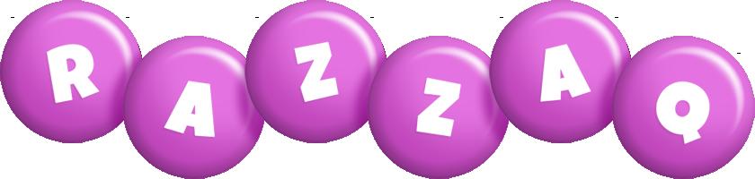 Razzaq candy-purple logo