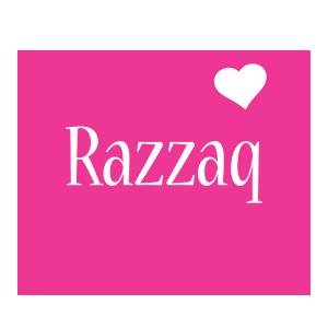 Razzaq love-heart logo