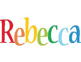 Rebecca birthday logo